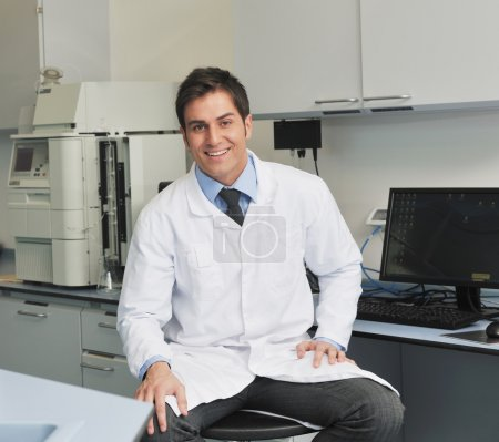 Research and science in laboratory
