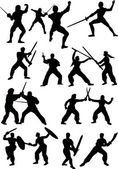 fencer silhouettes