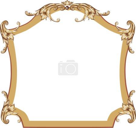 light brown simple frame
