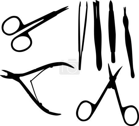 Illustration for Illustration with manicure set isolated on white background - Royalty Free Image
