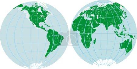Illustration with two hemispheres...
