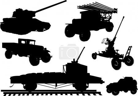 obsolete armament collection illustration