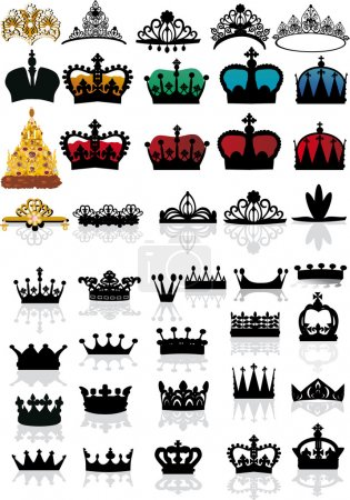 large set of crowns