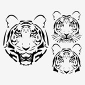 The vector abstract tiger head set