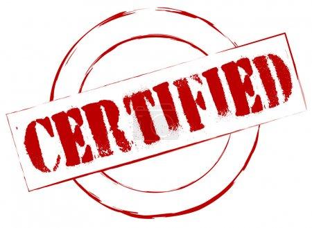 Photo pour Timbre en caoutchouc certifié - image libre de droit