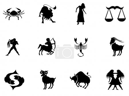 Illustration for Set of zodiac signs - Royalty Free Image