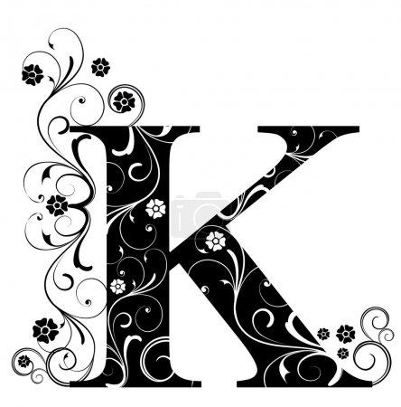 Illustration pour Lettre Capital K - image libre de droit