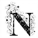 Letter Capital N...