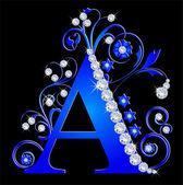 capital letter A blue