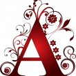 Capital letter A red...