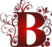 Písmeno b červený