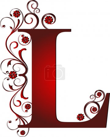 Capital letter L red