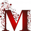 Capital letter M red...
