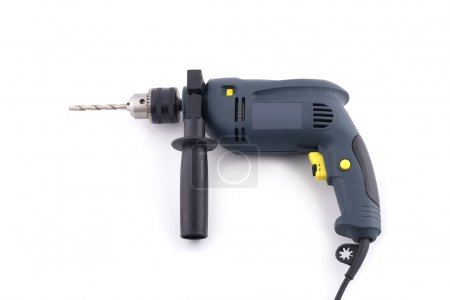 Heavy drill on white background