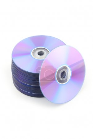 Compact disks or dvd isolated on white