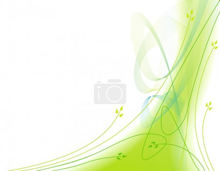 Illustration for Abstract ecological green background with motion lines - Royalty Free Image
