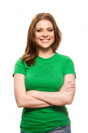 Positive smiling woman