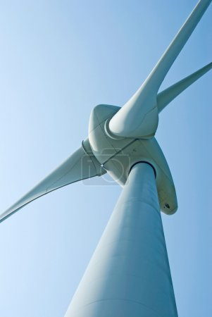 Photo for Wind power generation machine under blue sky - Royalty Free Image