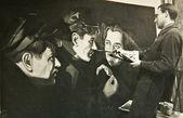 Umělec kreslí portréty