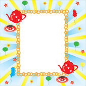 Picture frame Red coffee pot and cup