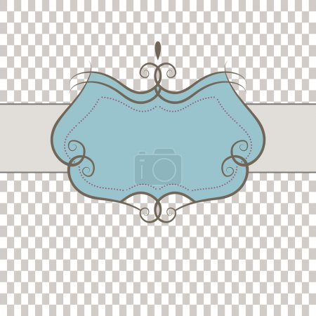 Illustration for Template frame design for greeting card . Vector illustration - Royalty Free Image
