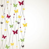 Background with Butterfly for you Vector illustration