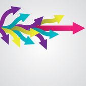 Colorful vector sticker arrows Vector illustration