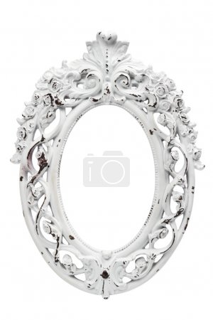 Ornate vintage white frame