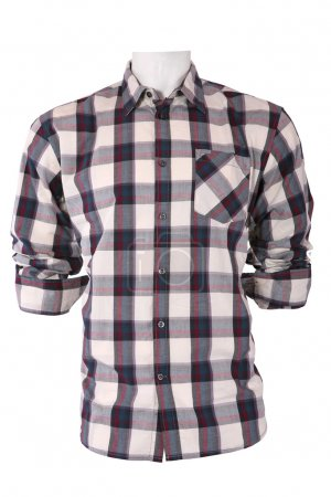 Male checkered shirt on a mannequin