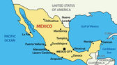 Vector illustration - map of United Mexican States