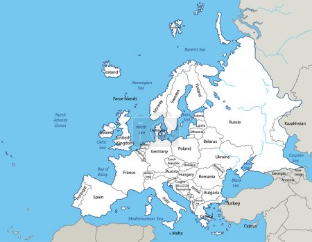 Illustration for Vector illustration - map of Europe - Royalty Free Image