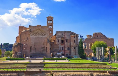 Italy. Rome. Ancient ruins of the Roman Forum