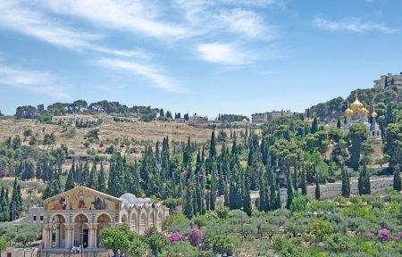 Photo pour Église de maria magdalene et église de toutes les nations à mount olive - image libre de droit
