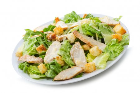 Photo for Caesar Salad on white background - Royalty Free Image