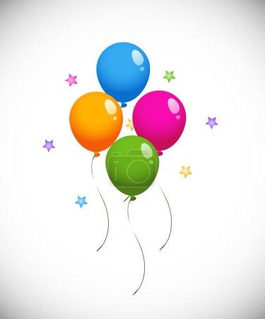Illustration pour Ballons colorés. EPS 8, ai, jpeg - image libre de droit