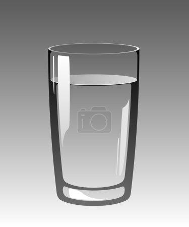 Ilustración de Vaso de agua en un gris background.eps 8, ai, jpeg - Imagen libre de derechos