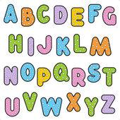 Polka-dot alphabet set