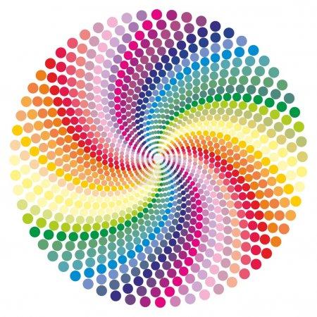Illustration pour Fond vectoriel vortex arc-en-ciel . - image libre de droit