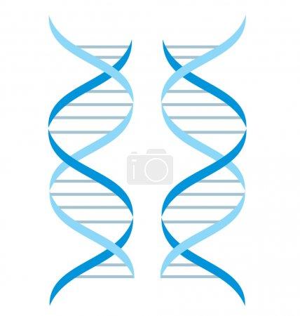 Illustration pour Contexte abstrait. Structure ADN - image libre de droit
