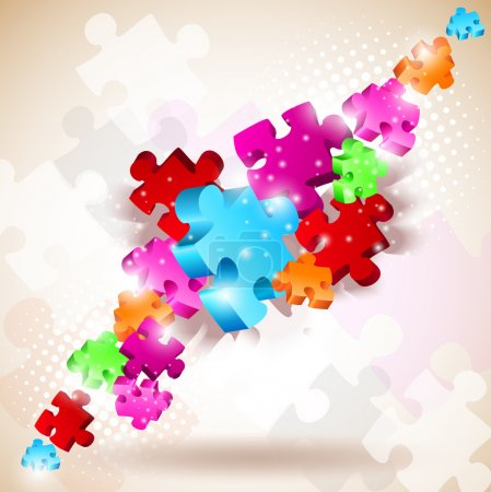 Illustration for Abstract background made from puzzle pieces - Royalty Free Image