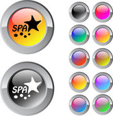 Spa multicolor glossy round web buttons