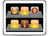 Hookah orange app icons