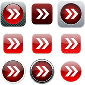 Forward arrow red app icons.
