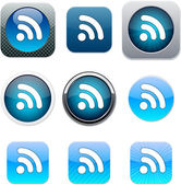 Rss blue app icons