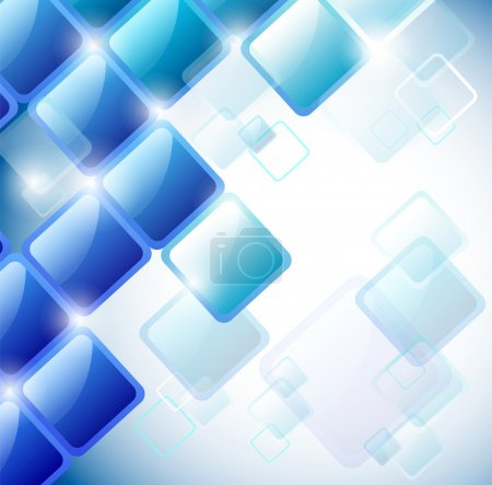 Illustration for Abstract background of blue squares. Eps10 vector - Royalty Free Image