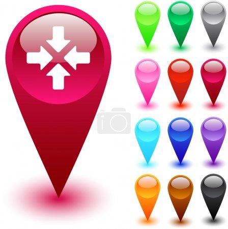 Illustration pour Cliquez ici boutons web brillants . - image libre de droit