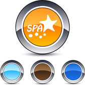 Spa glossy round web buttons