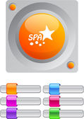 Spa vibrant round button with additional buttons