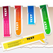 Colorful paper bookmarks Vector set