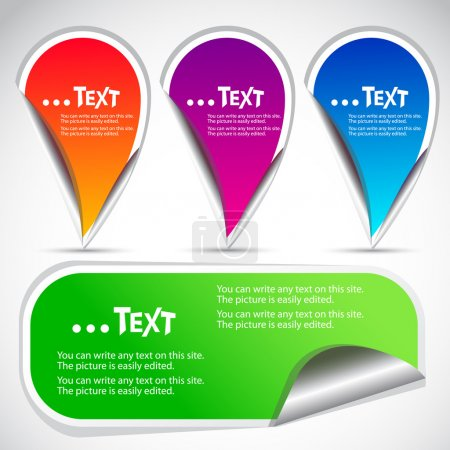 Colorful stickers for speech